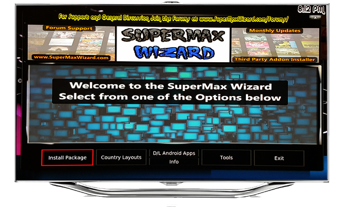 supermax wizard kodi addons installer build best